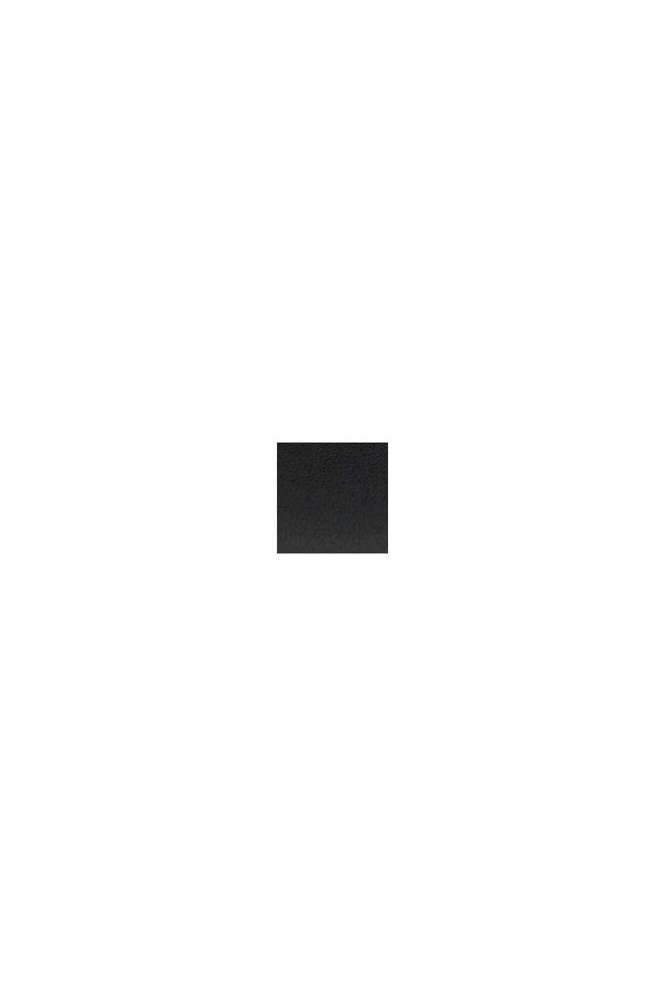 Reloj multifunción con correa de piel, BLACK, swatch