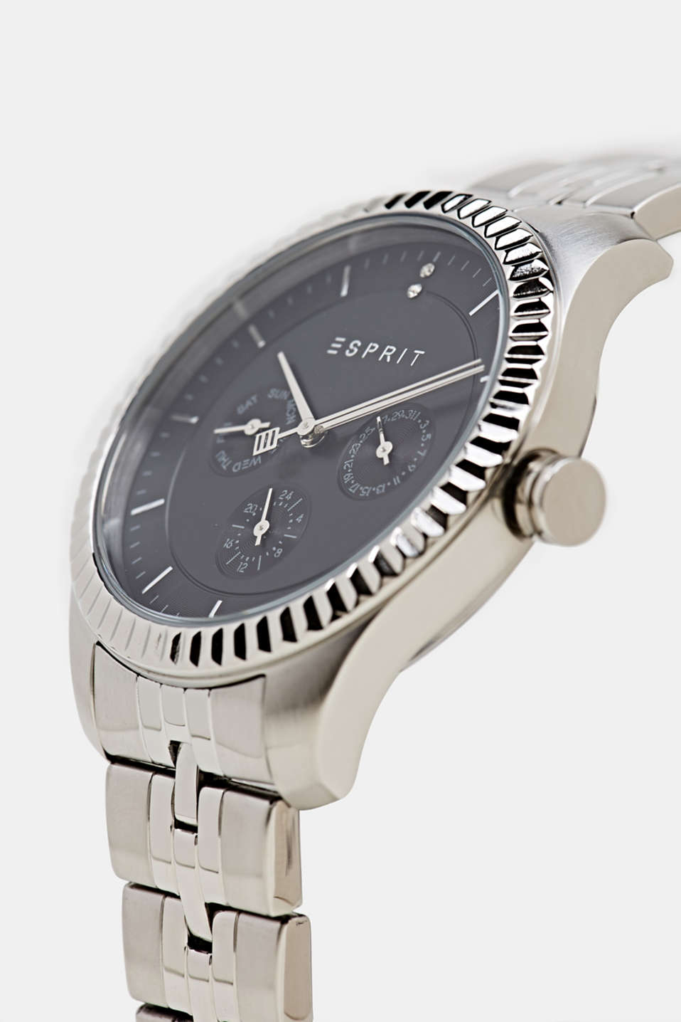 Multi-functional watch with a link strap, LCSILVER, detail image number 1