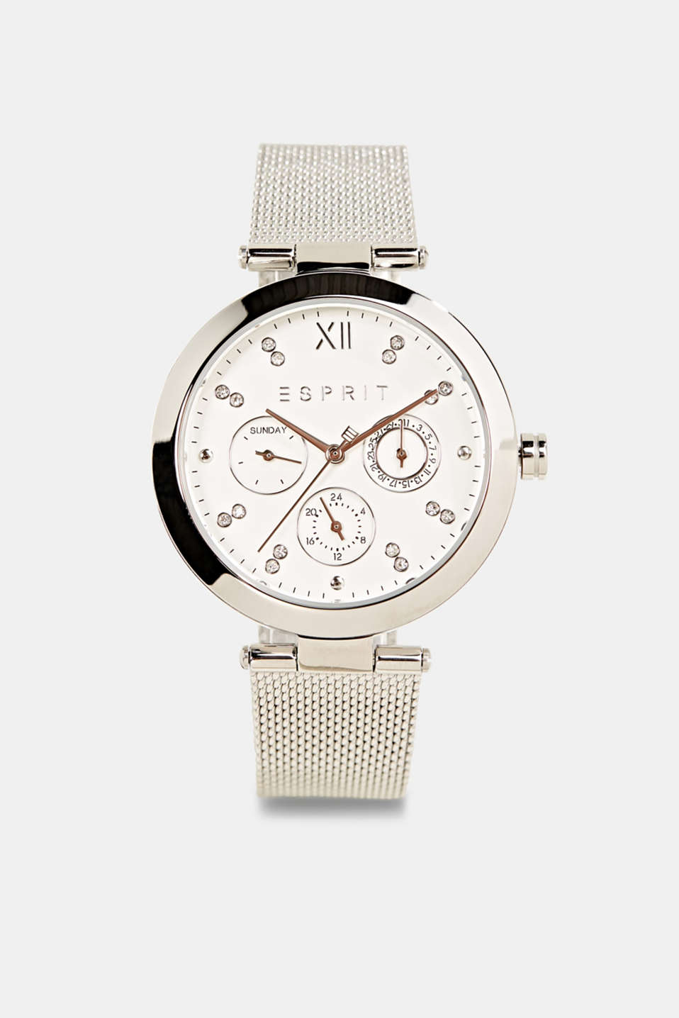 Esprit - Multi-functional watch with a mesh strap