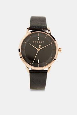 Watch with zirconia, stainless steel, BLACK, detail
