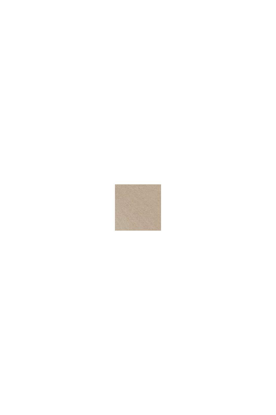 Multifunktionsklocka med saffiano-skinnarmband, BROWN, swatch