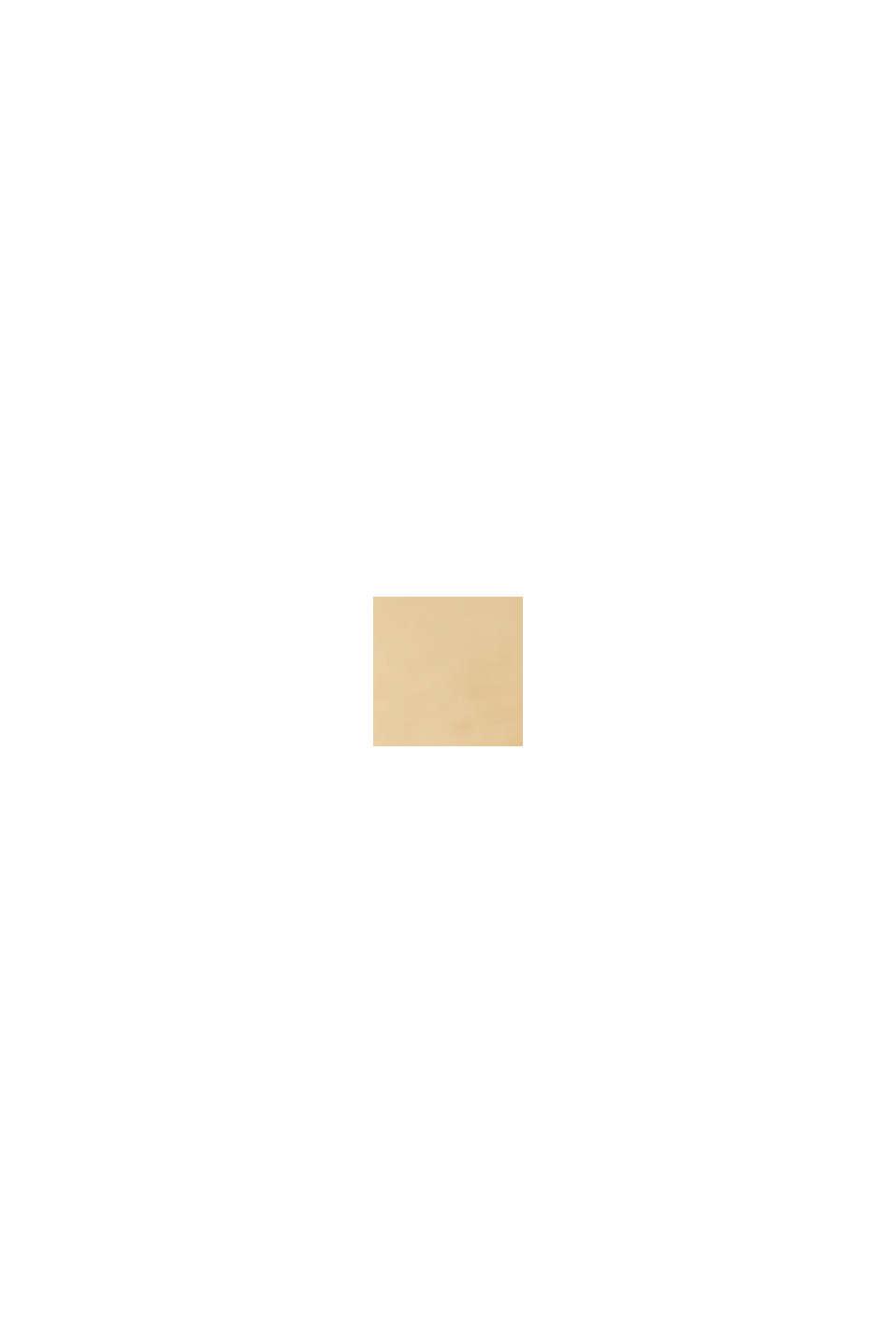 Gold plattierte Edelstahl-Uhr mit Leder-Armband, BEIGE, swatch