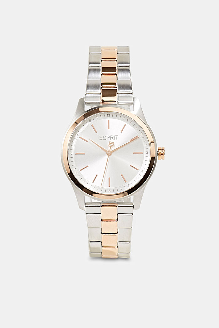 Stainless-steel watch with rose gold plating, ROSEGOLD, detail image number 0