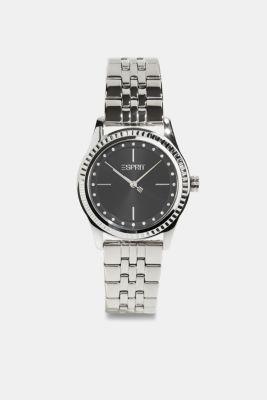 Gemstone watch with zirconia, SILVER, detail