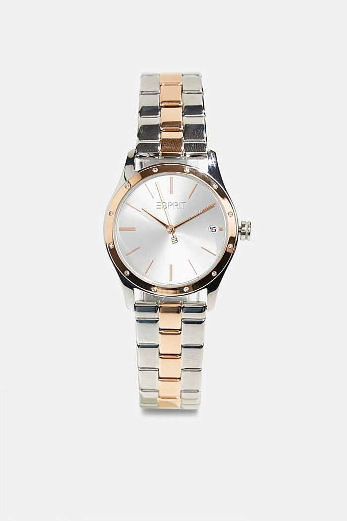 Set aus Uhr und Armband mit Zirkonia-Besatz, ROSEGOLD, detail image number 0