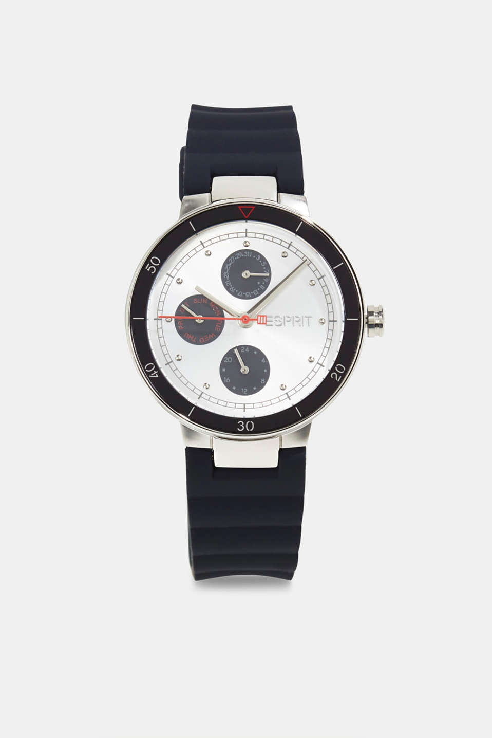 Esprit - Multi-functional watch with a rubber strap
