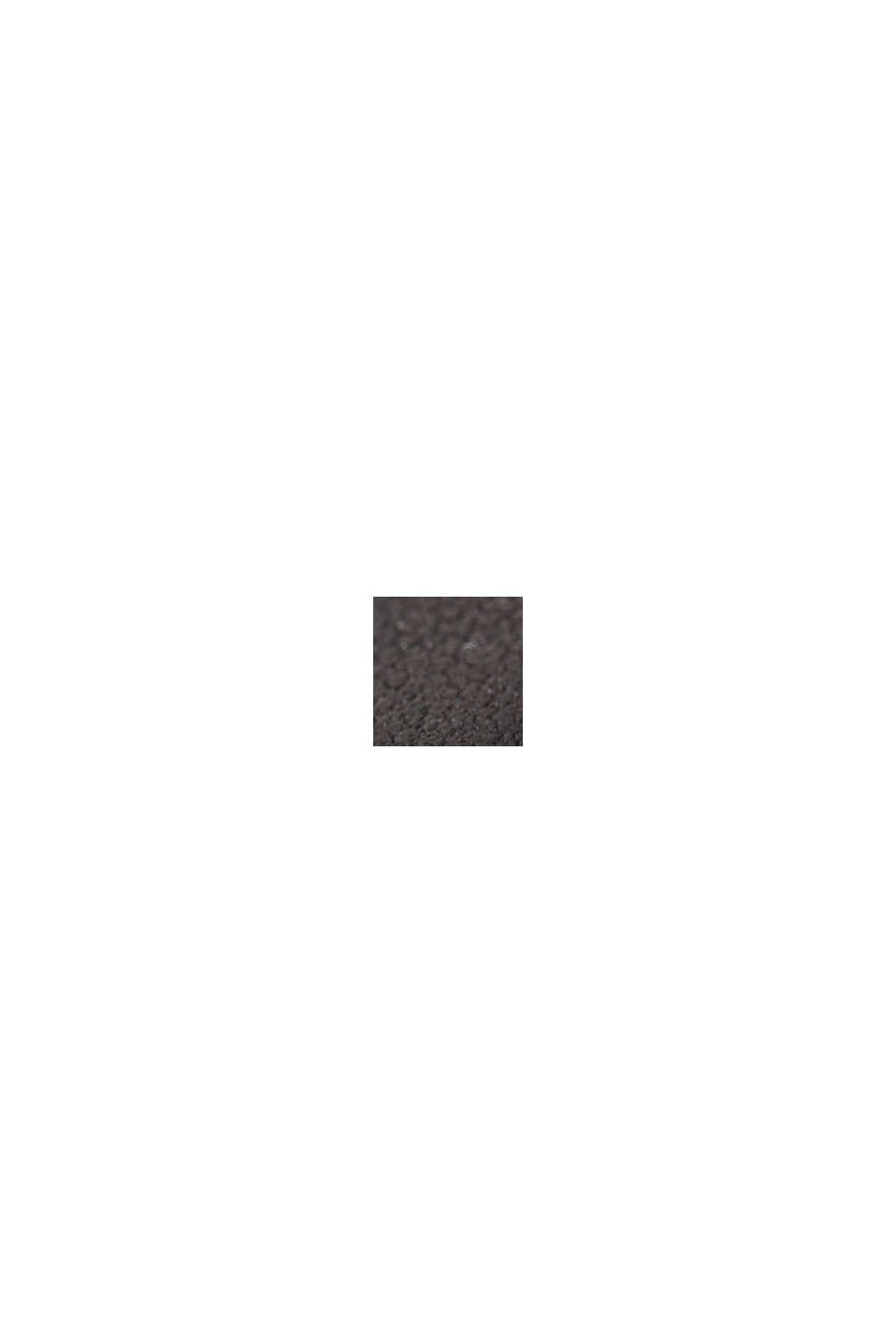 Edelstahl-Uhr mit Leder-Armband, BLACK, swatch