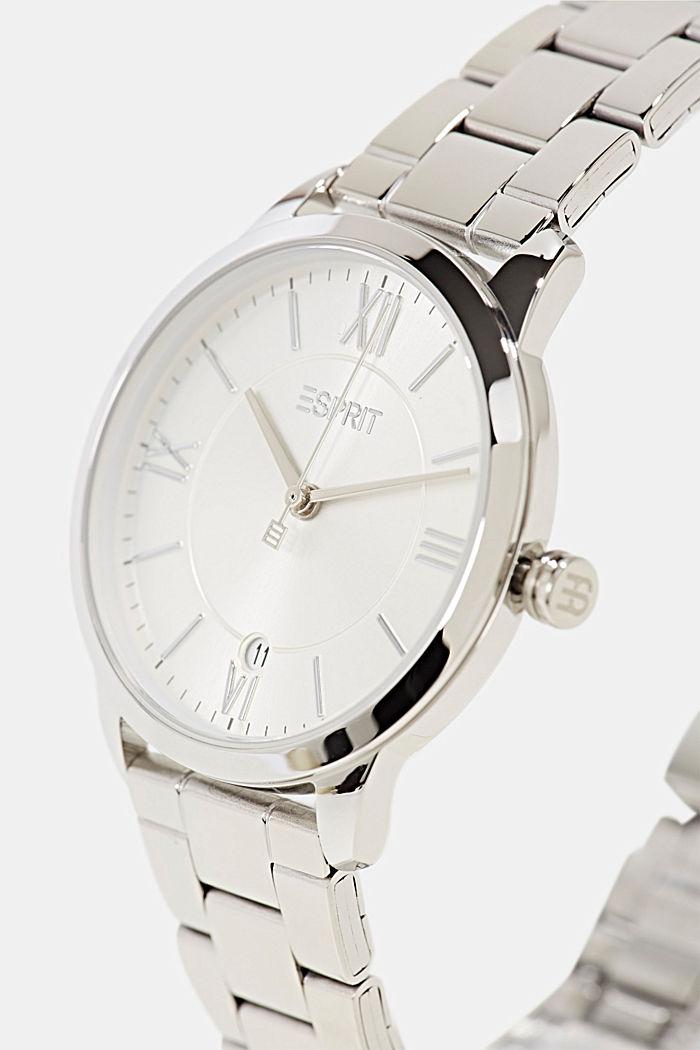 Edelstahl-Uhr mit Gliederarmband, SILVER, detail image number 1