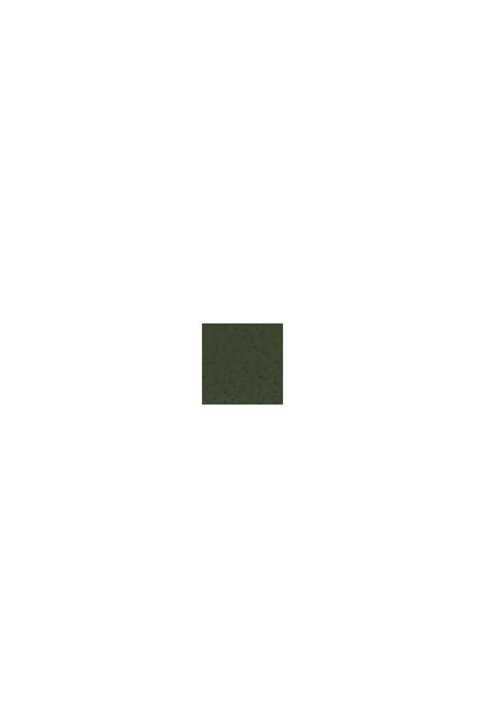 Edelstahl-Uhr mit Lederarmband, GREEN, swatch