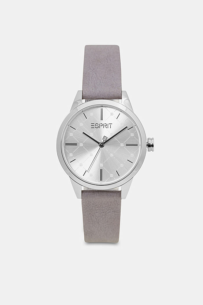 Vegan: stainless-steel watch with a patterned bezel