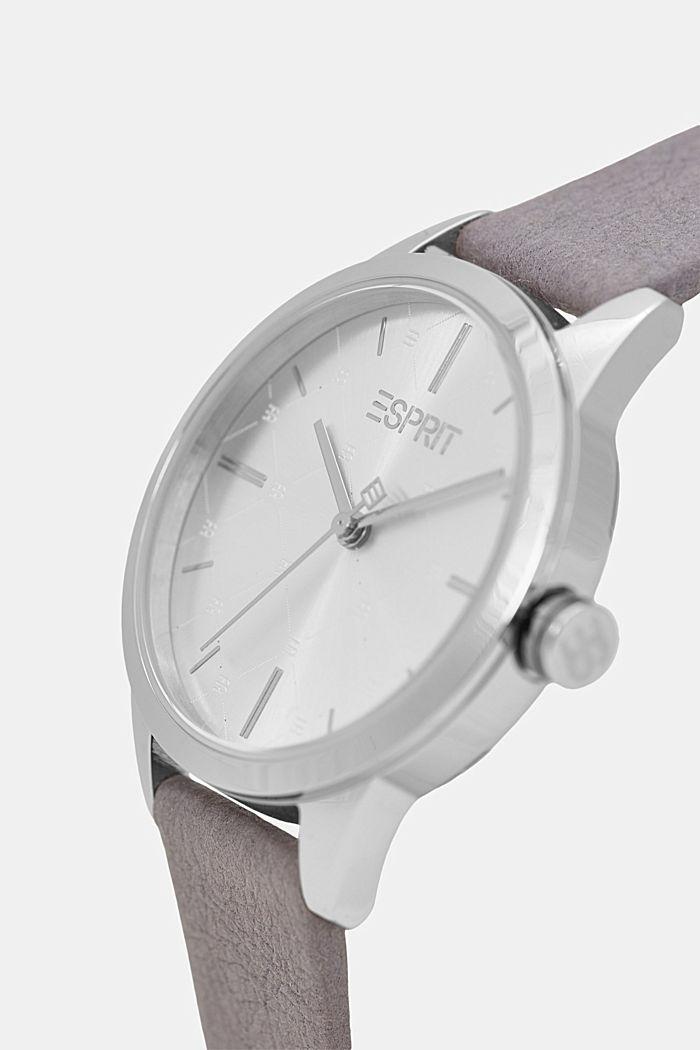 Vegano: reloj de acero inoxidable con bisel estampado, GREY, detail image number 1
