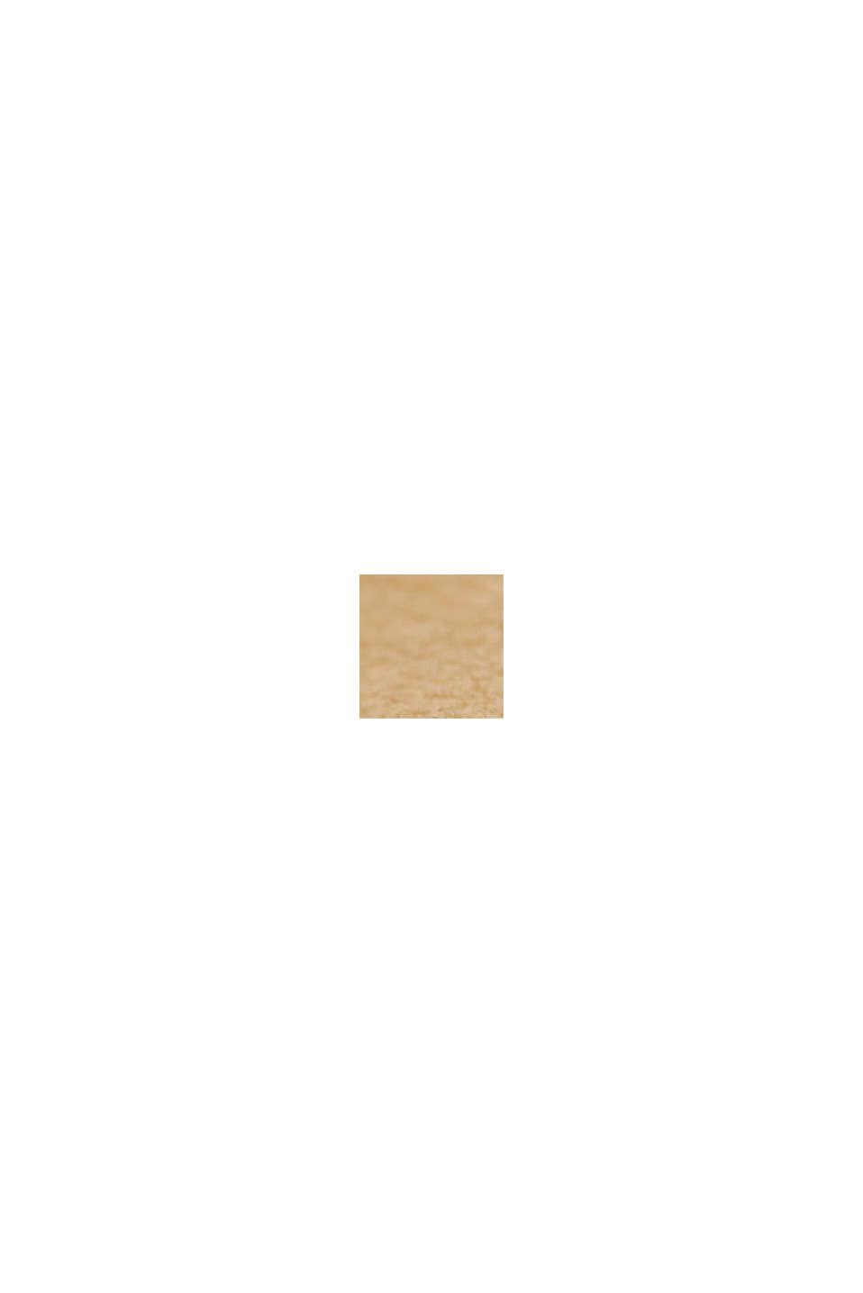 Vegansk: Ur i rustfrit stål med mønstret krans, BROWN, swatch