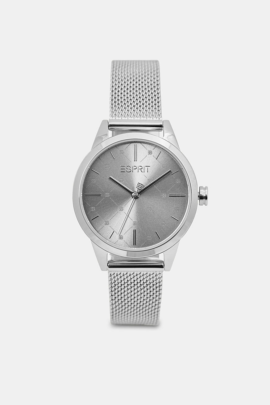 Stainless steel watch with a patterned bezel