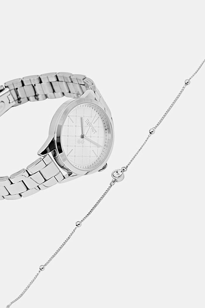 Set aus Uhr und Armband, SILVER, detail image number 4