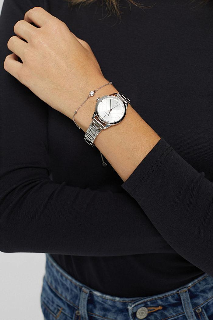 Set aus Uhr und Armband, SILVER, detail image number 2