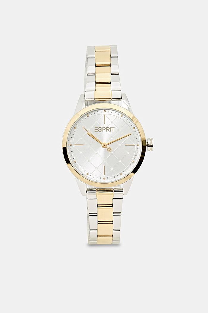 Parure montre et bracelet au look bicolore, GOLD, detail image number 0