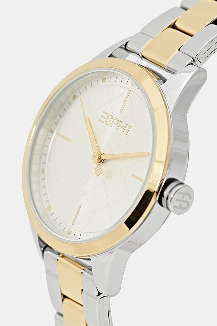Parure montre et bracelet au look bicolore, GOLD, detail image number 1