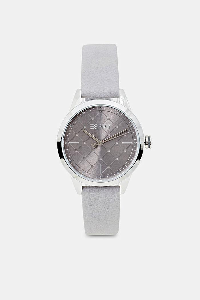 Vegansk: ur i rustfrit stål med mønstret krans