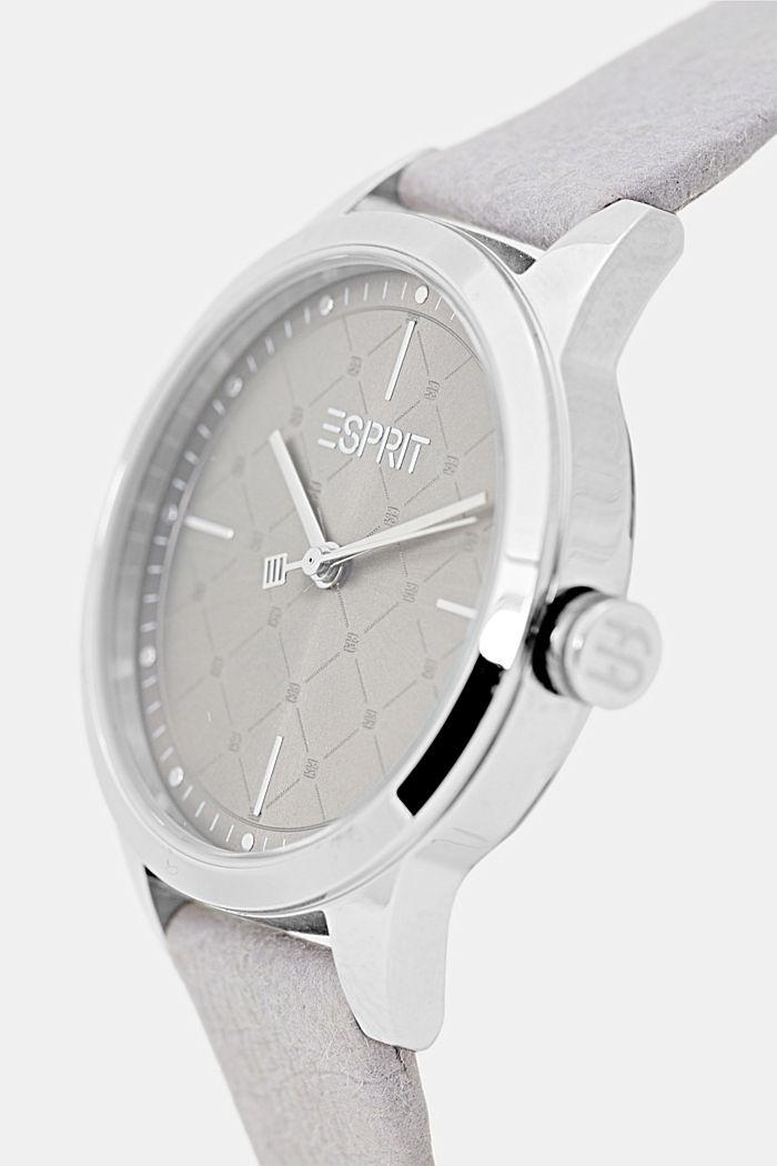 Vegan: la montre en acier inoxydable dotée d'une lunette à motif, GREY, detail image number 1