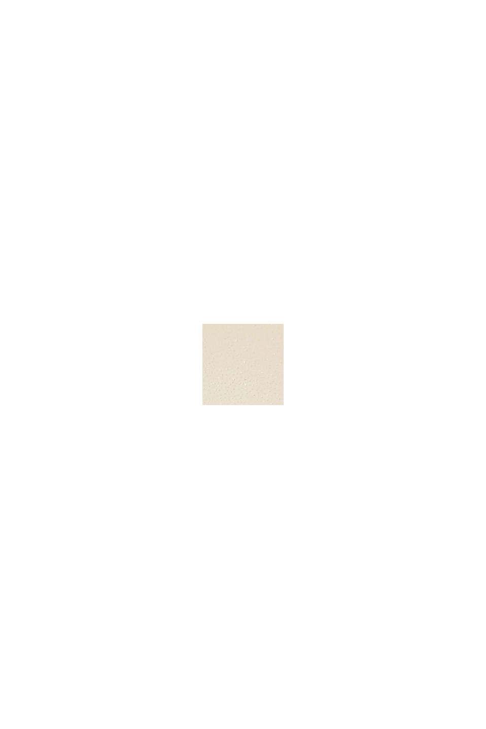Ur i rustfrit stål m. læderurrem og zirkoniasten, BEIGE, swatch
