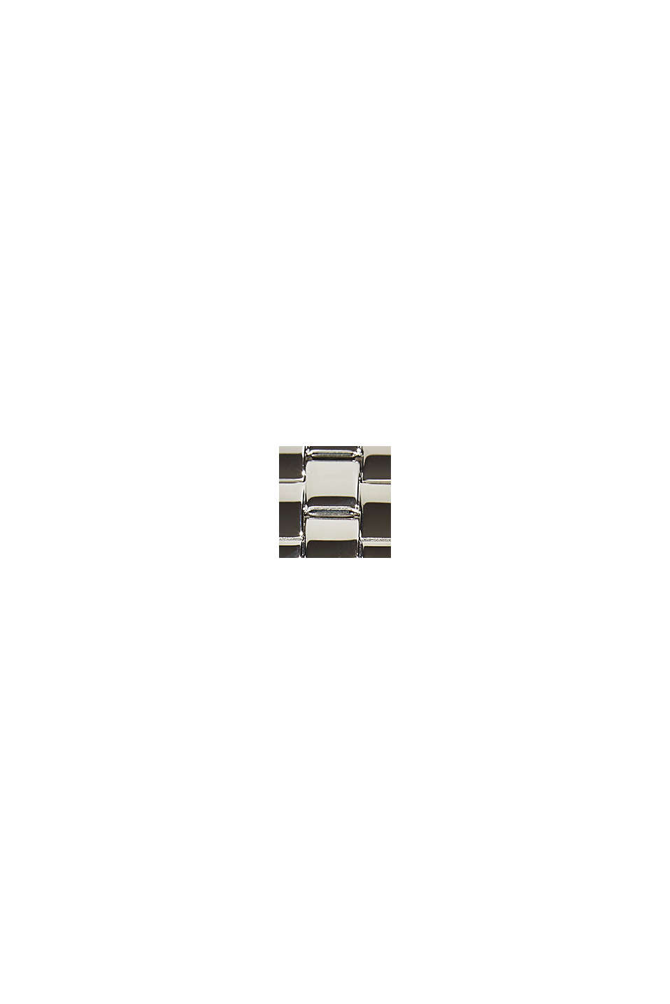 Klocka i rostfritt stål med zirkoner, SILVER, swatch