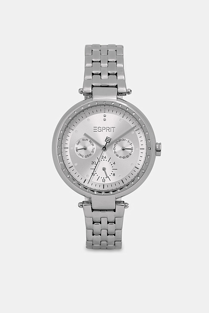 Multi-functional watch made of stainless steel, SILVER, detail image number 0