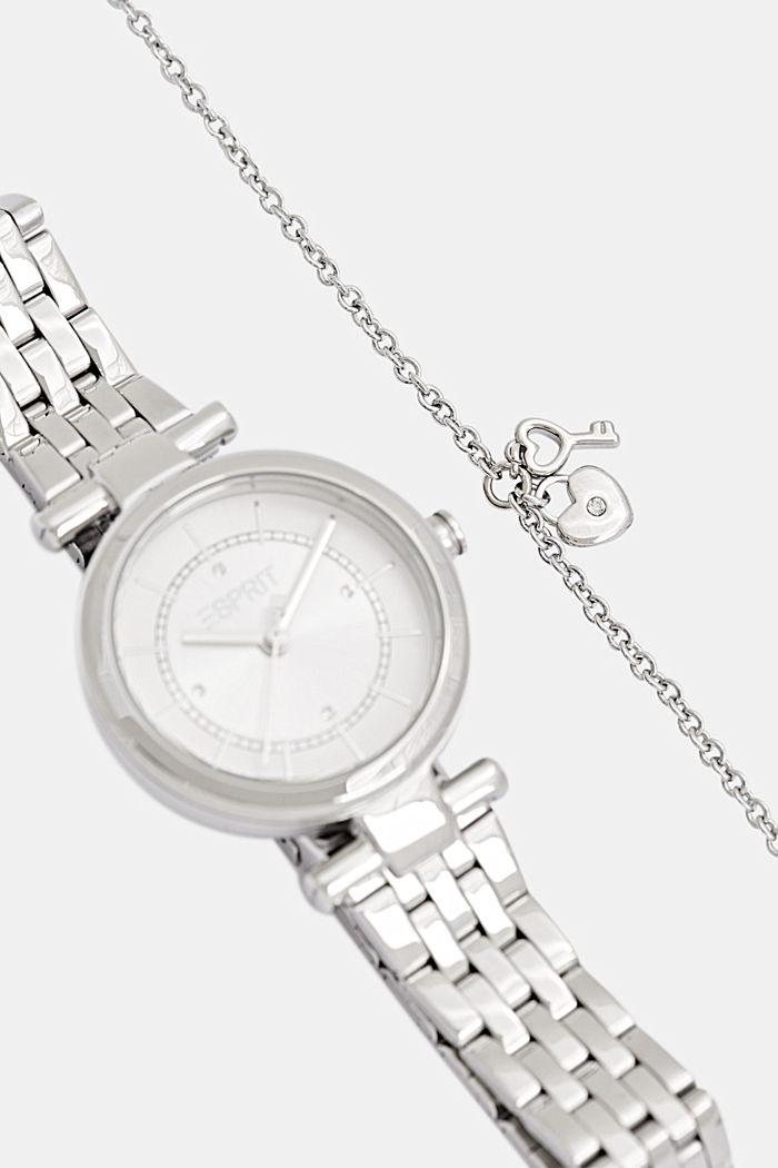 Set aus Uhr und Armband, SILVER, detail image number 3