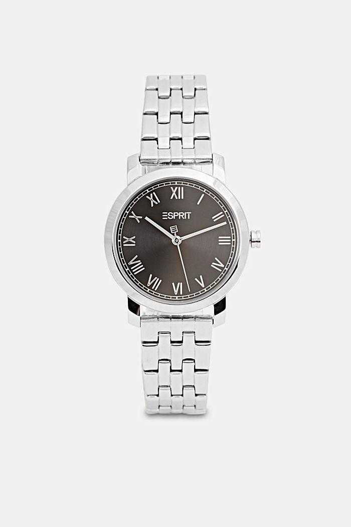 Edelstahl-Uhr mit Gliederarmband