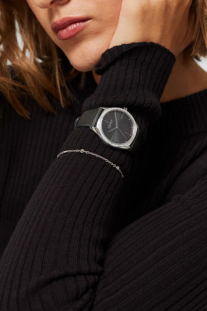 Set van horloge en armband, BLACK, detail image number 2