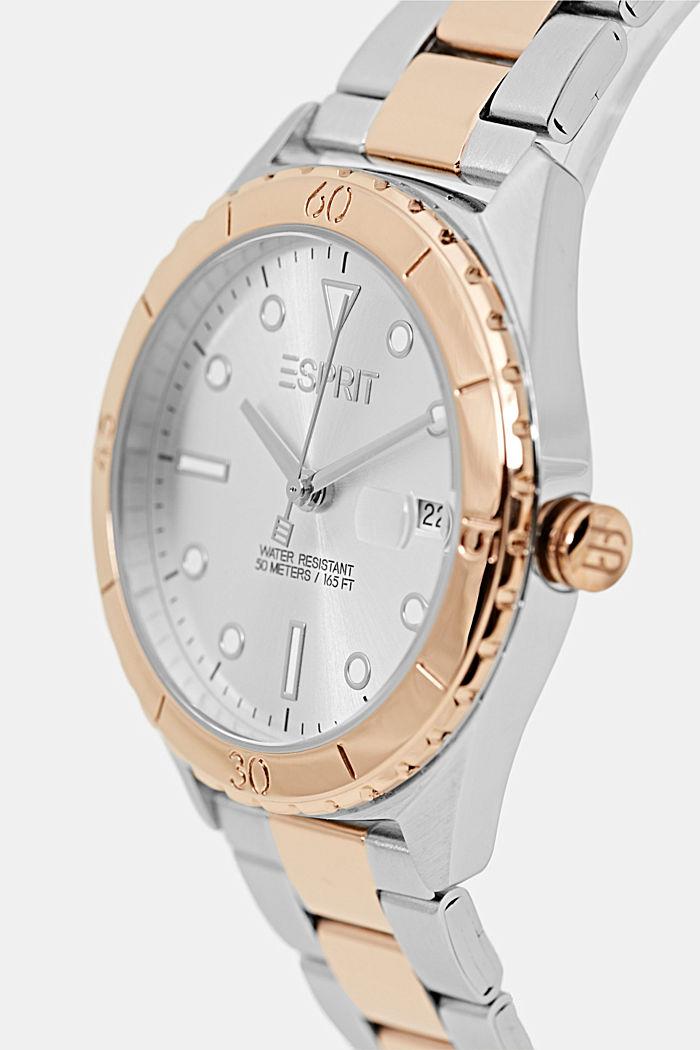 Edelstahl-Uhr mit nachtleuchtenden Indizes, ROSEGOLD, detail image number 1