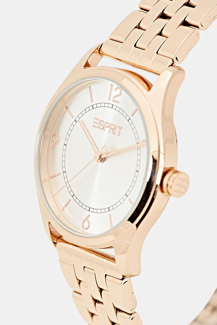 Horloge van roségoudkleurig edelstaal met schakelbandje, ROSEGOLD, detail image number 1