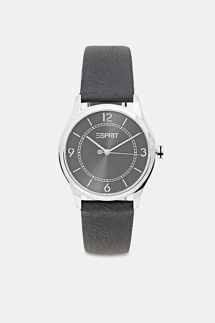 Vegansk: ur i rustfrit stål med urrem i læderlook