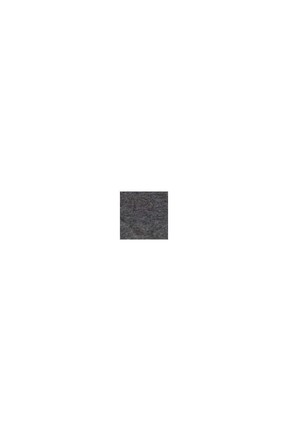 Vegansk: ur i rustfrit stål med urrem i læderlook, BLACK, swatch