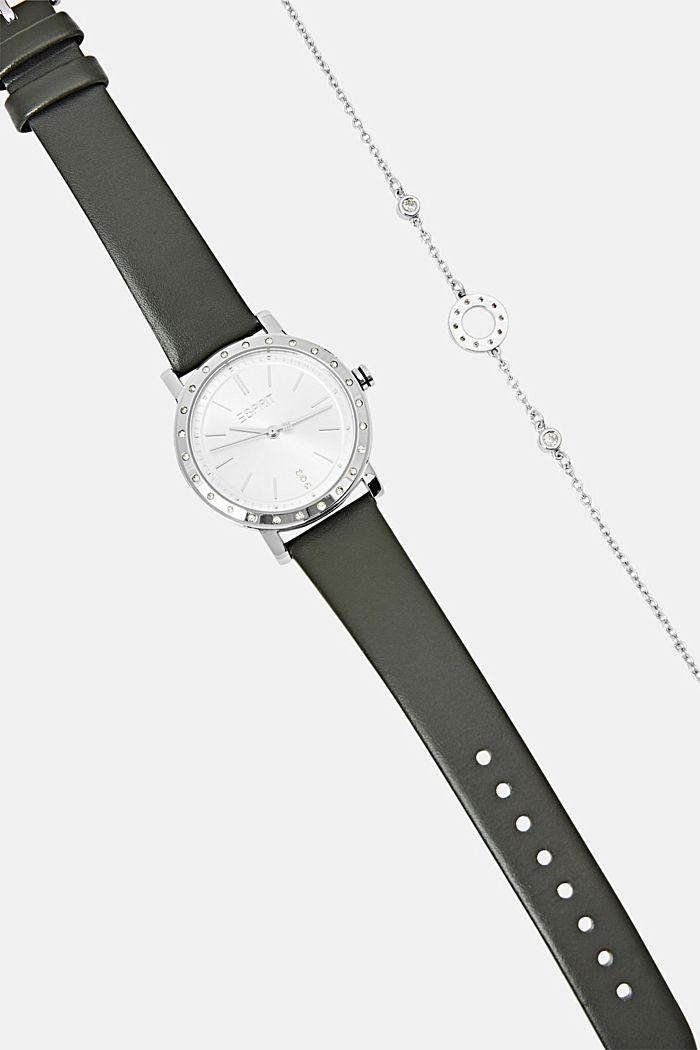Set van horloge en armband, BLACK, detail image number 4