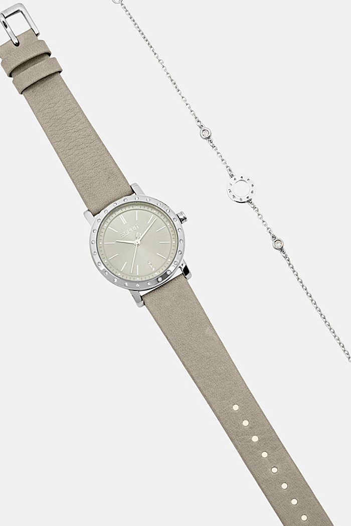 Watch and bracelet set, GREY, detail image number 4