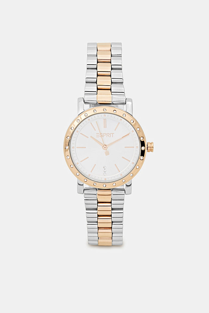Set of a two-tone stainless steel watch and bracelet, ROSEGOLD, detail image number 0