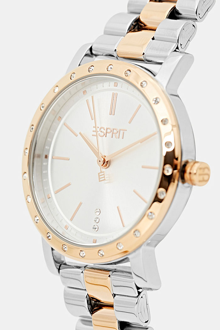 Set of a two-tone stainless steel watch and bracelet, ROSEGOLD, detail image number 1