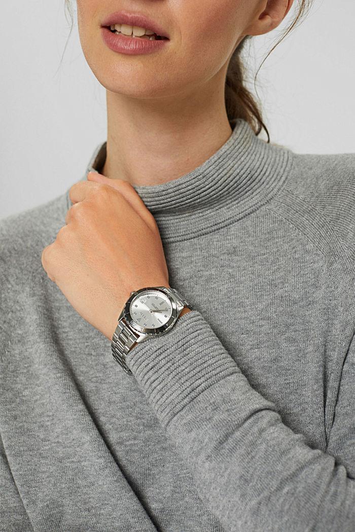 Reloj de acero inoxidable con pulsera de eslabones