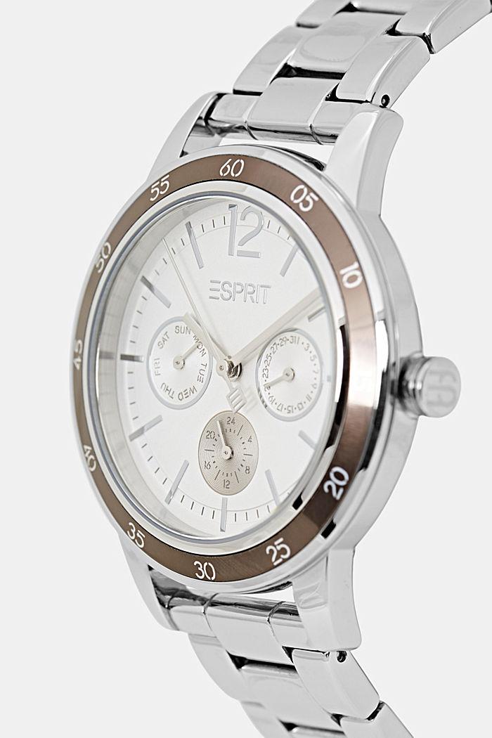 Multifunktions-Uhr aus Edelstahl, SILVER, detail image number 1
