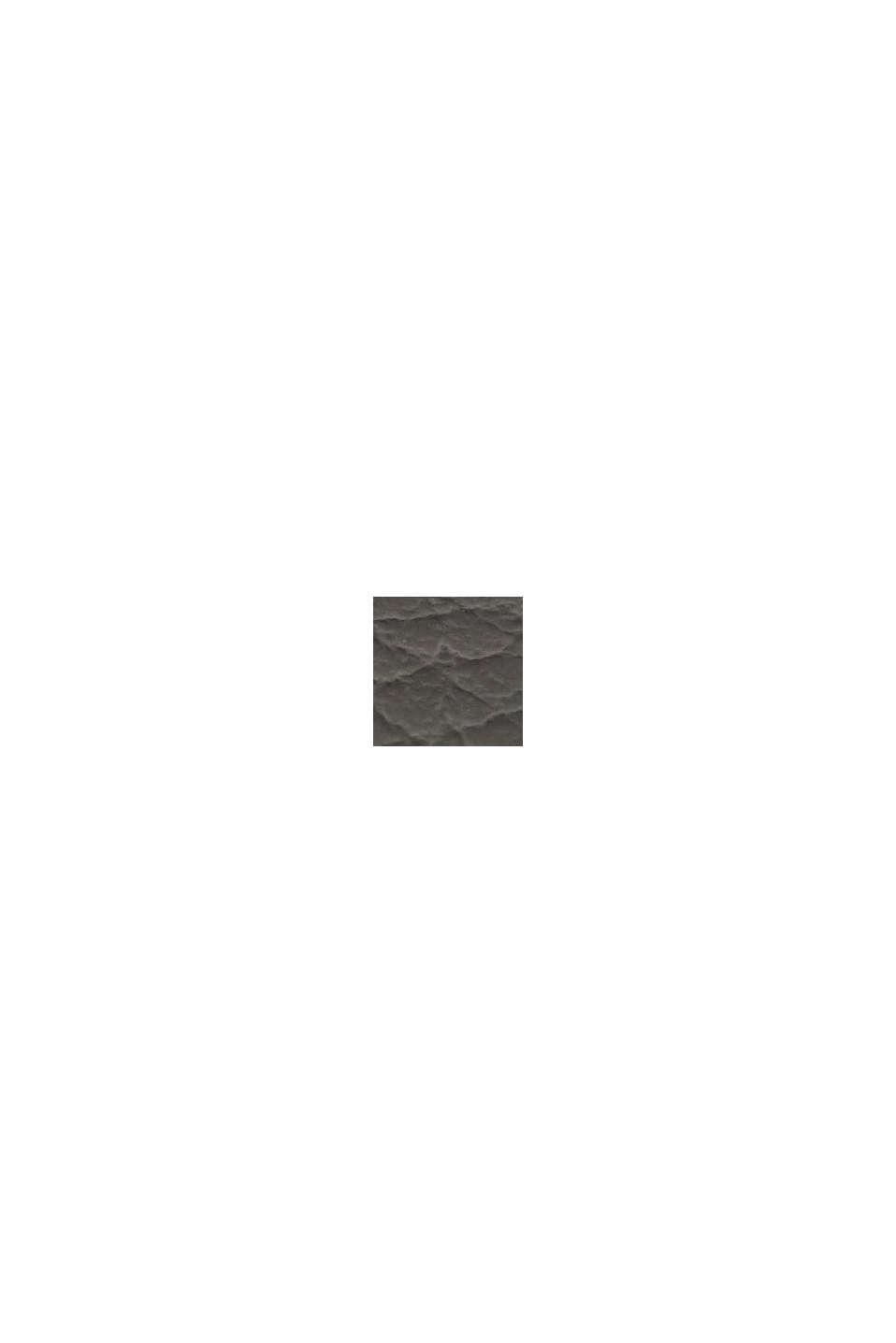 Ur i rustfrit stål med læderurrem og zirkoniasten, BLACK, swatch