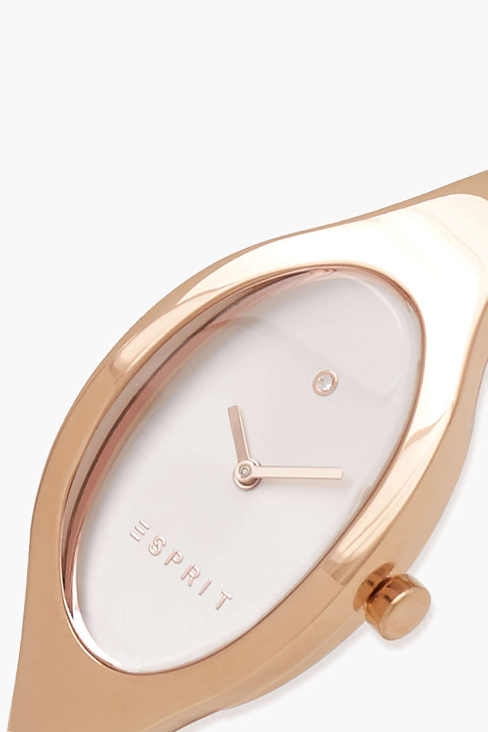 Pink gold bracelet watch