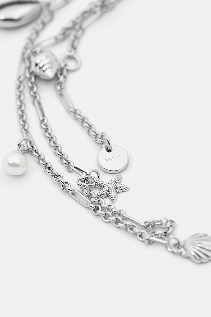 Anklet with nautical charms, SILVER, detail image number 1