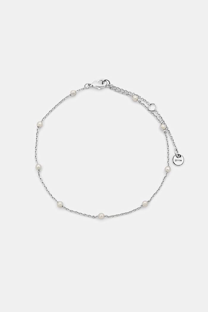 Chaîne de cheville à perles en métal