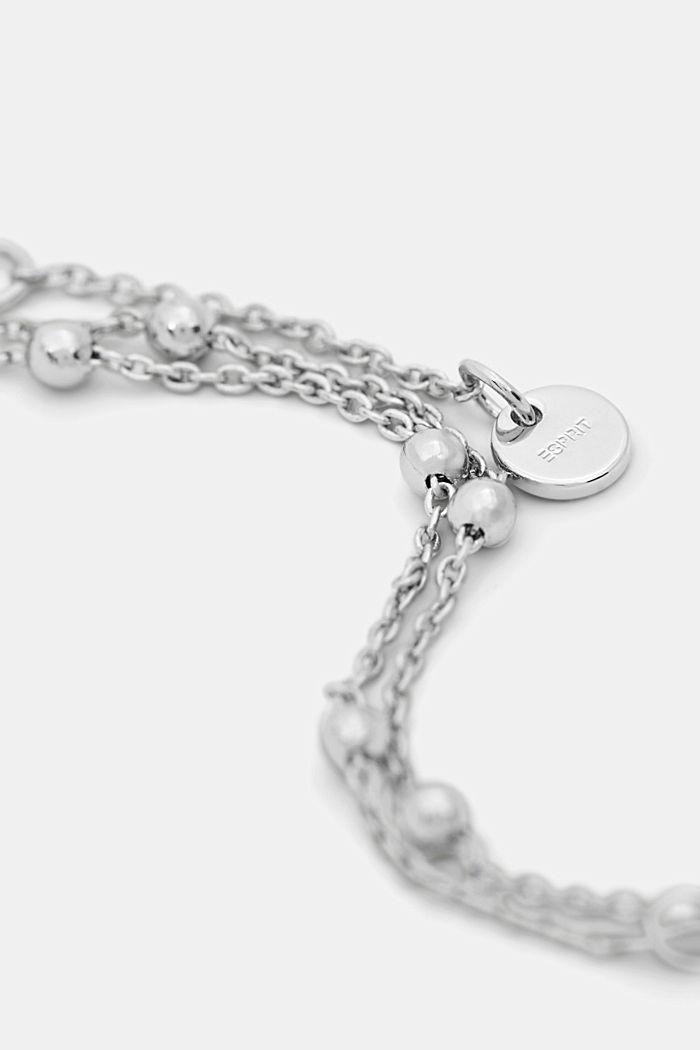 Cavigliera con perline in metallo, SILVER, detail image number 1