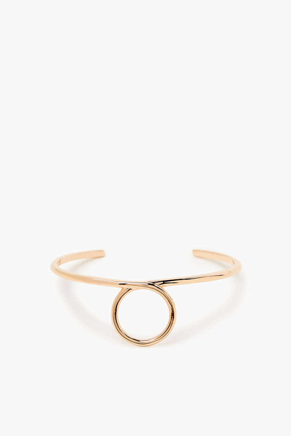 Open bangle made of stainless steel in a minimalist design with high-quality rose gold