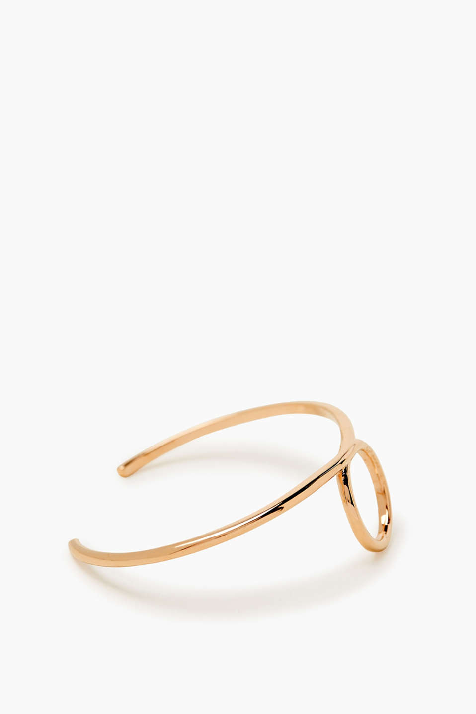 Open bangle in a rose gold tone