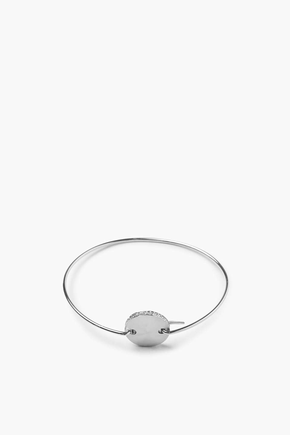 Esprit - Minimalist bangle with zirconia