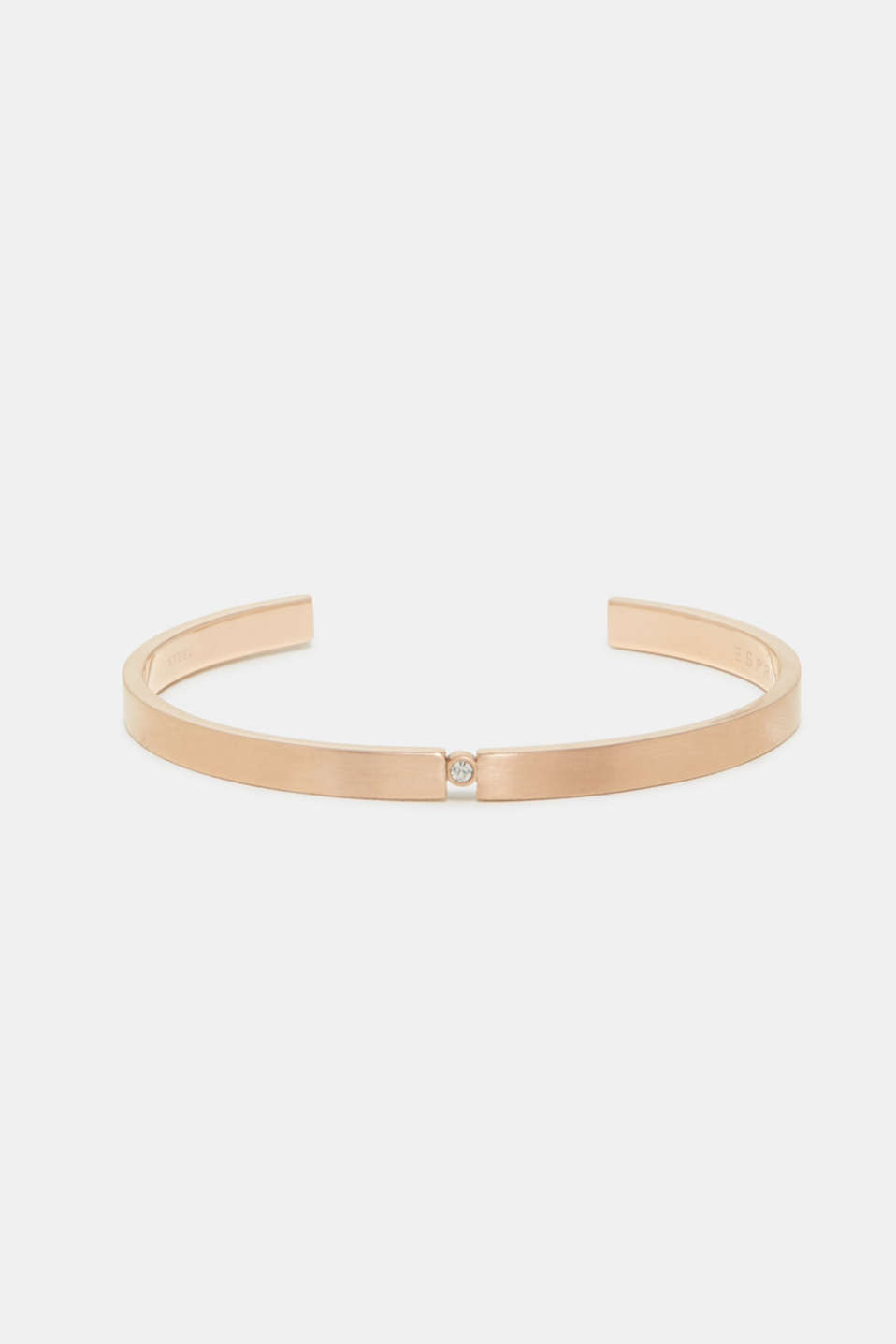 Esprit - Open bangle with zirconia, in rose gold