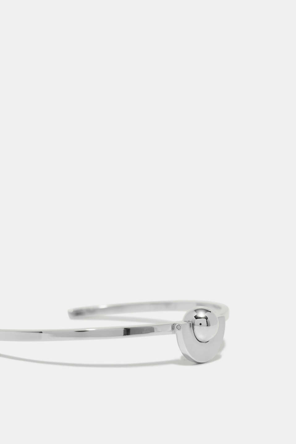 Open bangle plus stainless-steel orb