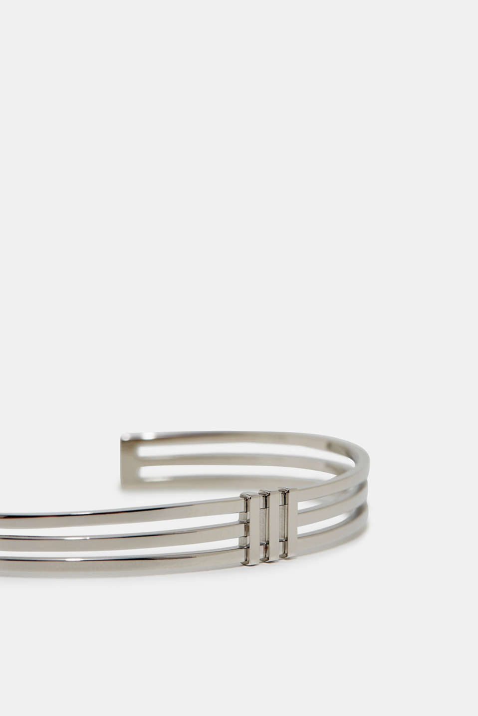 Bangle in silver tone stainless steel